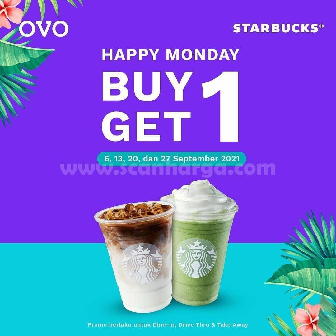 STARBUCKS Promo Cashback 20% + Buy 1 Get 1 pakai OVO